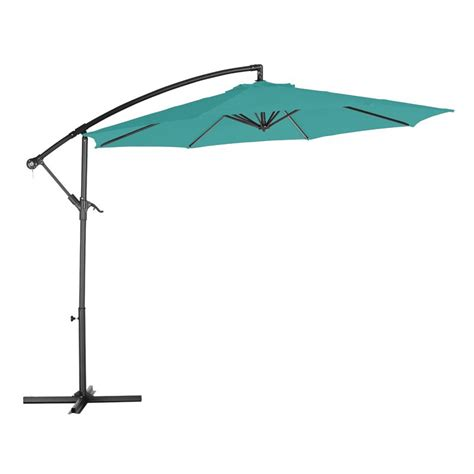Overhang Patio Umbrella 3m Teal Overhang Parasol Buy At Qd Stores