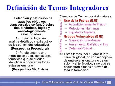 Diseño Curricular Base Definicion Propuesta De Revision E Integracion Curricular Con Base Al Pensamient