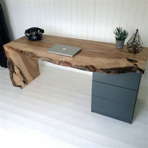 oak desk with drawers oak waterfall desk with drawers by sandman home and garden