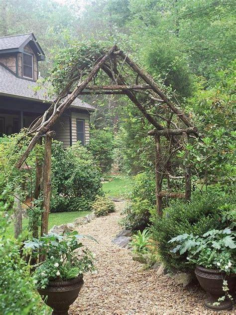 Rustic Garden Ideas Rustic Arbor Garden Ideas Gardening Pinterest