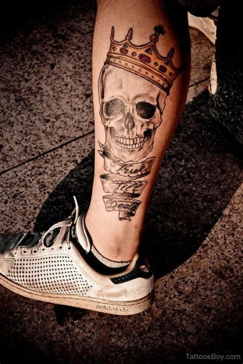 skull leg tattoo designs leg tattoos designs pictures page 24