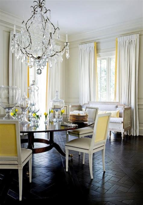 yellow  gray dining room french denlibraryoffice