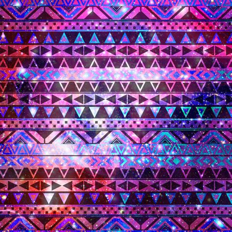 cute aztec pattern head in space girly andes aztec pattern pink teal nebula