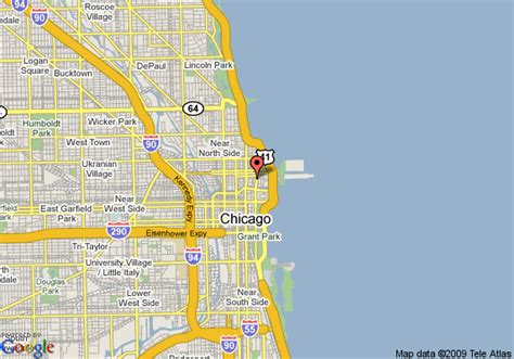 map of chicago lakefront map of embassy suites hotel chicago downtown lakefront
