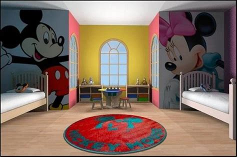 Zebra Print Wallpaper For Bedrooms 15 mickey mouse inspired bedrooms for kids rilane