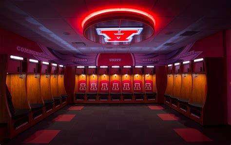 big locker room new bleachers shiny lockers school challenges intensify