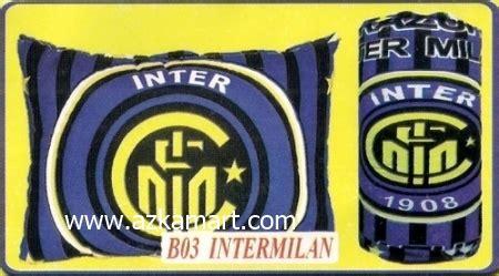 Bantal Inter Milan grosir balmut dan gulmut chelsea motif bola grosir balmut dan selimut murah