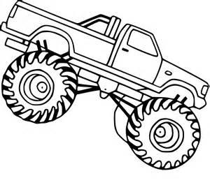 Coloriage Monster Truck Facile &224 Imprimer Sur COLORIAGES Info sketch template