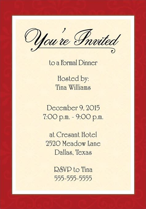 Dinner Invitation Template Word Templates Resume Exles Dyappkpaxz Invitation Template Word