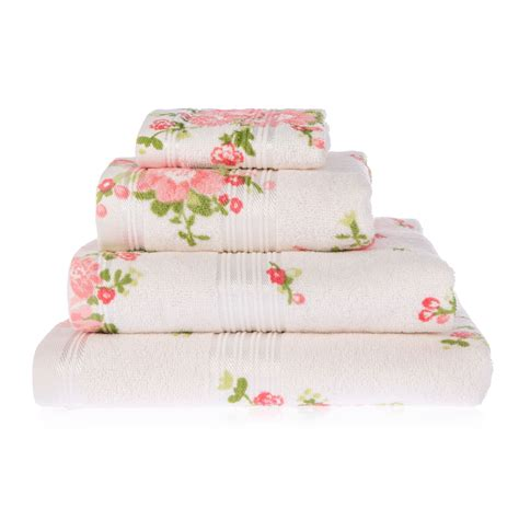floral towels for the bathroom rose floral printed 100 cotton face hand bath towel
