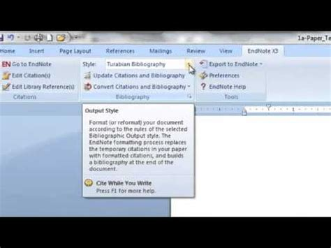 youtube tutorial endnote endnote tutorial for word how to use endnote turabian