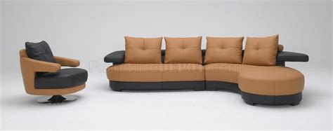 2 tone leather sofa black and brown two tone leather modern sectional sofa