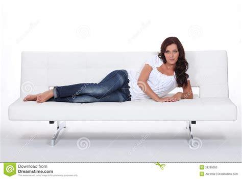 Model Laid On Expensive Sofa Stock Photos Image 28299283