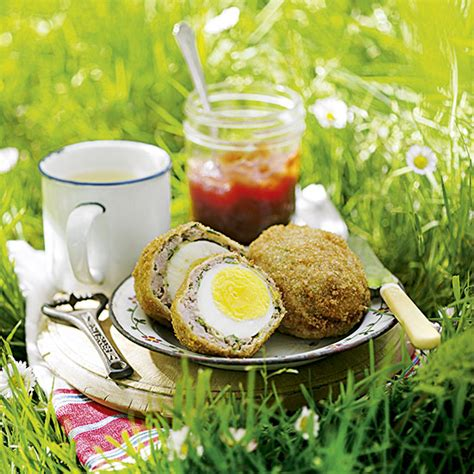 country homes and interiors recipes scotch eggs recipe ideal home