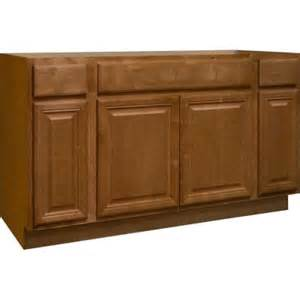 base kitchen cabinets hton bay 60x34 5x24 in cambria sink base cabinet in harvest ksb60 chr the home depot