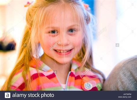 7 year old hair close up portrait of 7 year old girl with long blonde hair