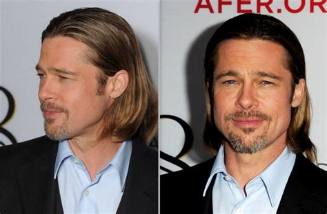when a guys tuck hair ears means brad pitt hair 2012 stylish eve