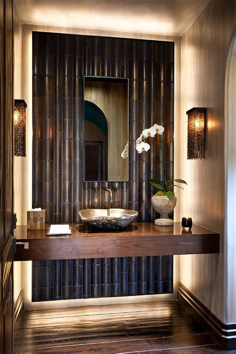 bamboo bathroom ideas summer trend 25 dashing powder rooms with tropical flair