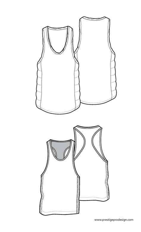 vest top template tank top free mens fashion flat sketches