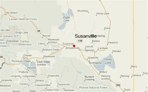 where is susanville california on the map susanville location guide