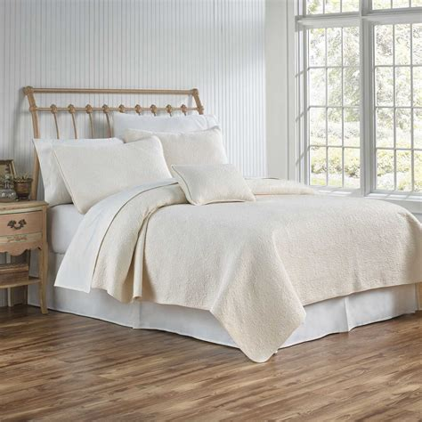 cream coverlet traditions linens bedding couture matelasse coverlet and shams