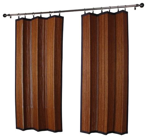 bamboo outdoor curtains houseofaura com outdoor bamboo curtain panels espresso