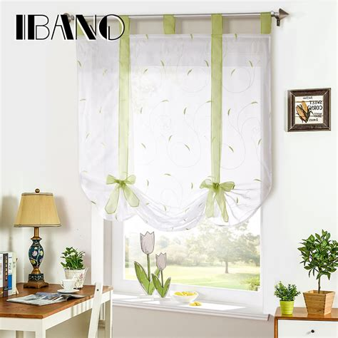 roman curtain shades roman shade european embroidery style tie up window