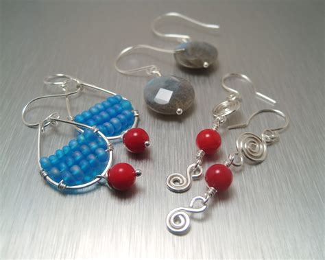 Make Handmade Earrings - copperheart upcoming class custom handmade earrings
