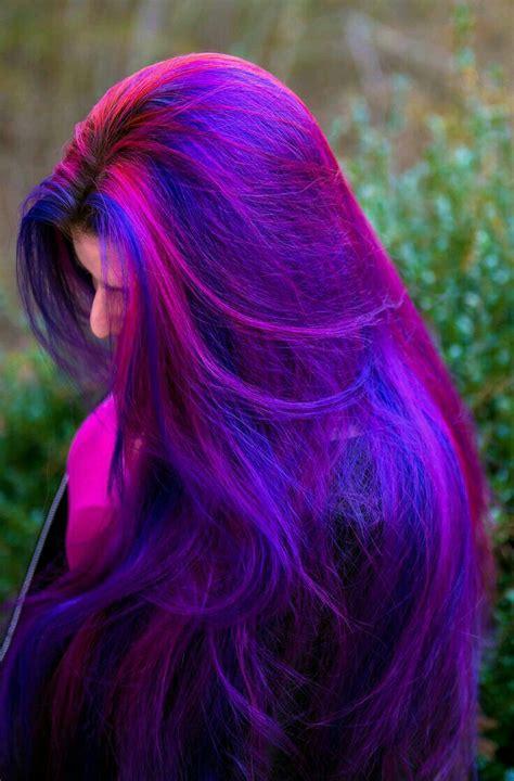 hairstyles to hide dyed hair cabelo roxo azul e rosa maravilhoso hair color