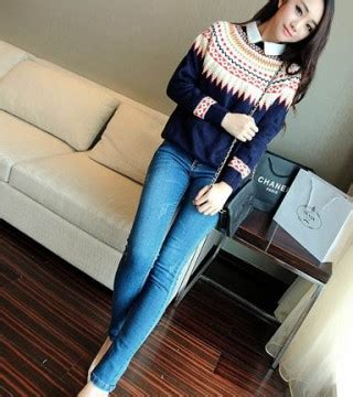 Sweater Knit Wanita Murah sweater murah dan cantik aztec sweater dress