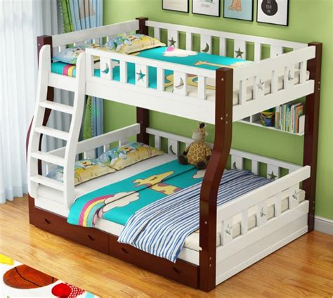 simple design kids bunk bed solid wood kids double deck