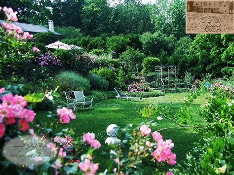 country backyard garden design lush country garden