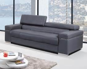 Gray Modern Sofa Contemporary Sofa Upholstered In Grey Thick Italian Leather Prime Classic Design Modern Italian