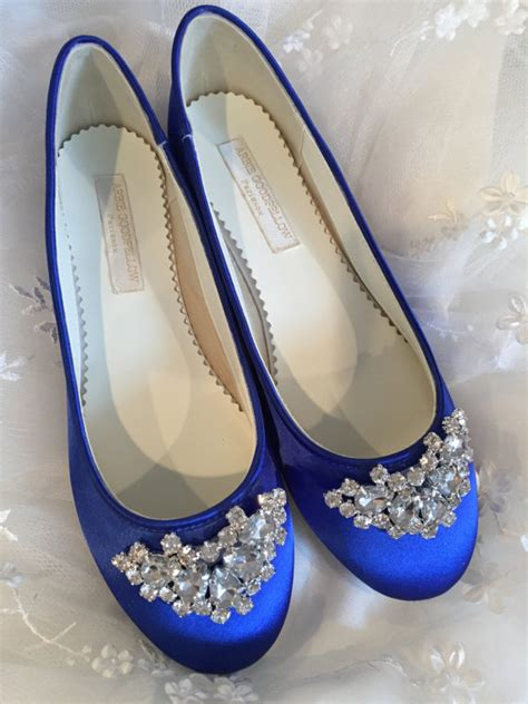 Blue Wedding Flats by Sapphire Blue Flats Royal Blue Wedding Shoes Wedding