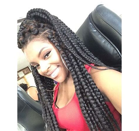 can you put poetic justice braids in a bun poetic justice box braids big braids jumbo braids