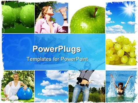 powerpoint templates free download healthy lifestyle a healthy lifestyle concept diet and fitness powerpoint