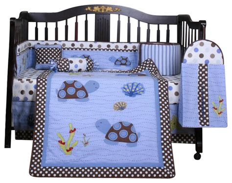Sea Turtle Crib Bedding Set Sea Turtle 13pcs Crib Bedding Set Contemporary Baby Bedding By Geenny