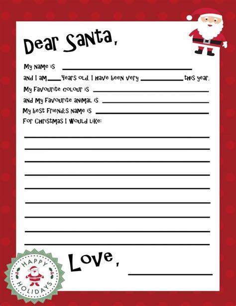 letter to santa template pinterest santa letter template for kids letter of recommendation