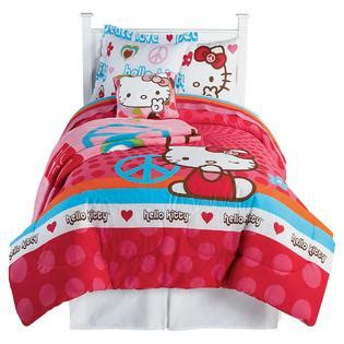 hello kitty bedding twin hello kitty peace signs twin comforter