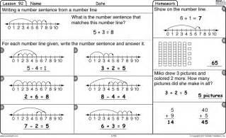 open number line addition 2nd grade 2nd grade number
