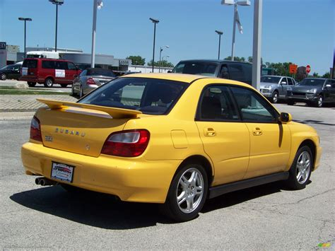 yellow subaru wrx 2003 subaru impreza wrx sedan in sonic yellow photo 5