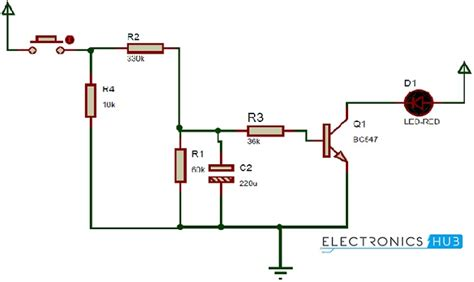 how up fading led lights circuit works