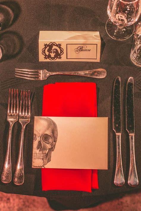 skull themed wedding on hallloween weddbook