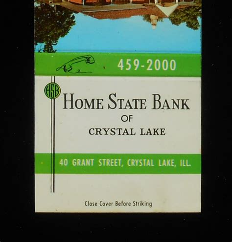 1960s matchbook home state bank since 1915 40 grant