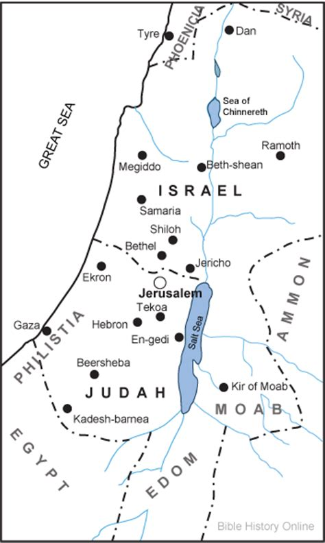 ancient middle east map judah map of the kingdoms of israel and judah bible history