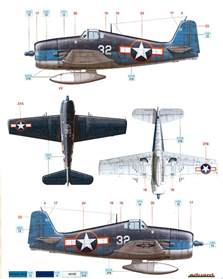 grumman f6f hellcat early war camouflage color profile and