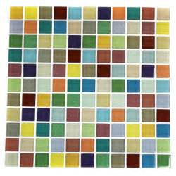glass tiles fruit platter 1x1 multi colored polished glass tile