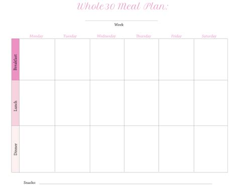whole30 meal plan template how to survive whole 30 without losing your mind 7 tips and tricks