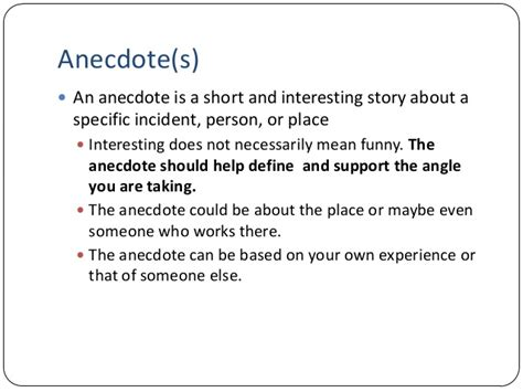 exle of anecdote exle of an anecdote in an essay my tear