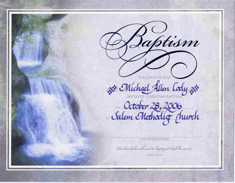 templates for baptism certificates water baptism certificate templateencephaloscom